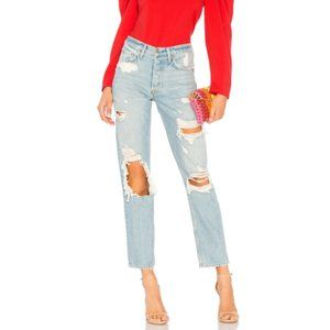 GRLFRND - Helena Distressed High Rise Jeans